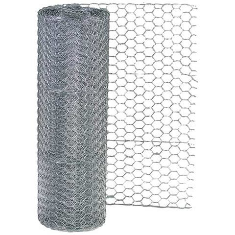 "Garden Zone 162425 Hex Mesh Poultry Netting, 24"" H x 25' L"