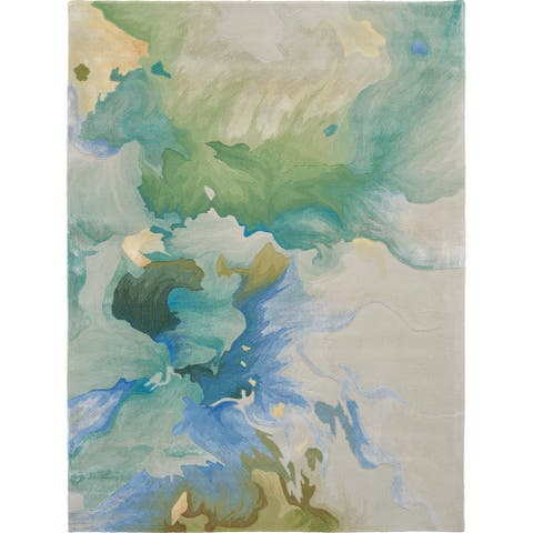 Nourison Prismatic Modern Floral Watercolor Abstract Area Rug