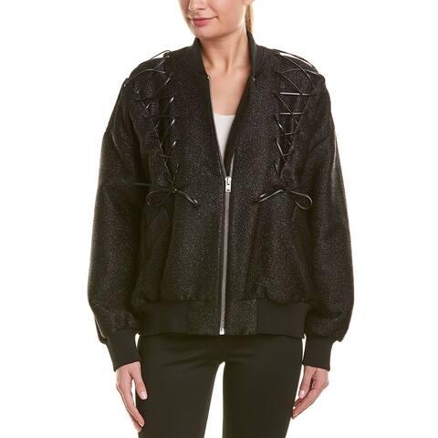 Iro Lace-Up Oversized Jacket