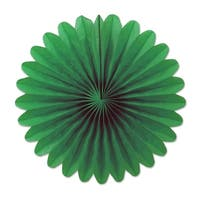 """Club Pack of 72 Forest Green Miniature Tissue Paper Fan Hanging Party Decorations 6"""""""