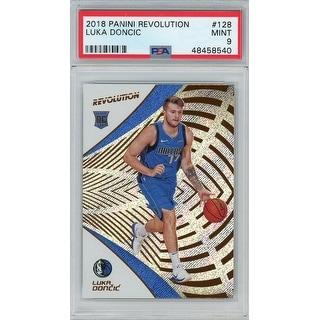 Luka Doncic Dallas Mavericks 2018 Panini Revolution Basketball Rookie Card RC 128 Graded PSA 9 MINT - Black - 5' x 8'