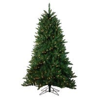 6.5' Pre-Lit Montana Pine Artificial Christmas Tree - Clear Lights - green