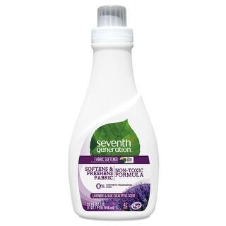 Seventh Generation Natural Liquid Fabric Softener - Blue Eucalyptus and Lavender - Case of 6 - 32 Fl oz.