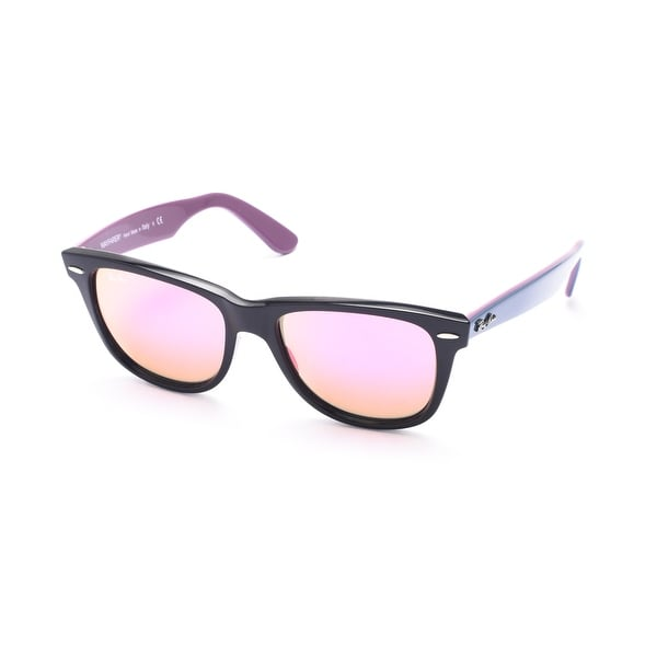Ray-Ban Original Wayfarer Bicolor Sunglasses Black/Blue/Purple - Clear - Small