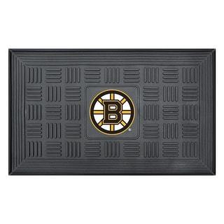 Boston Bruins Medallion Door Mat