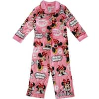 "Disney Little Girls Pink Minnie Mouse ""Peek a Bow"" Print 2 Pc Pajama Set"