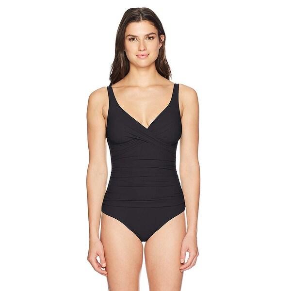 d2c481529c Shop Profile by Gottex Women Surplice Bust V-Neck 1-PC Swimsuit - 14 ...