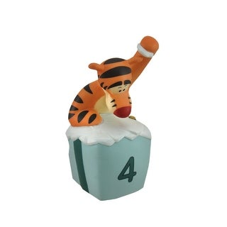 Pooh and Friends Tigger Four Is for Bounces and Giggles Figurine - Orange