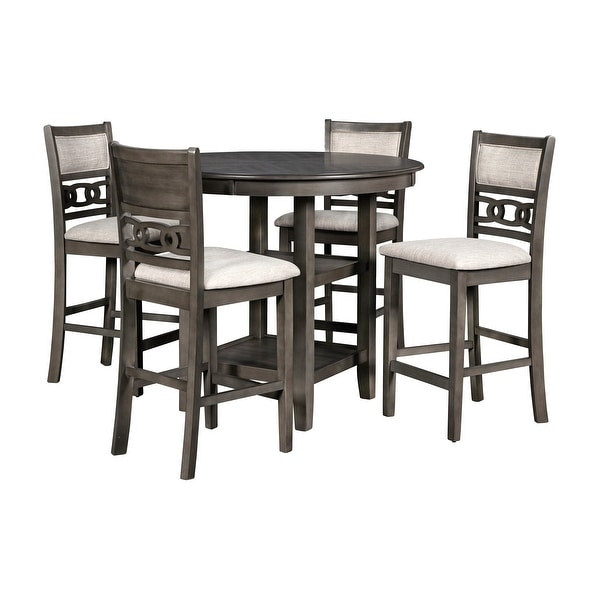 shop transitional wooden 5 piece counter height dining