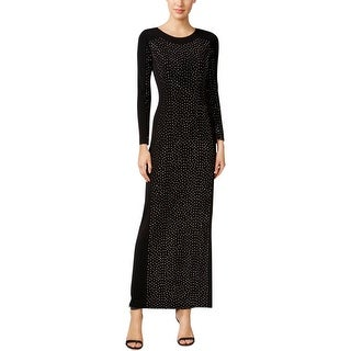 Calvin Klein Womens Evening Dress Embellished Long Sleeves