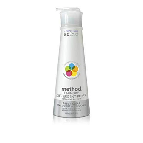 Method 01126 Free & Clear Laundry Detergent Pump, 50 Loads, 20 Oz