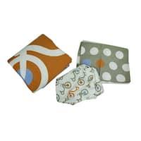 Tricycle and Polka Dots 3 Piece Crib Sheet Skirt Comforter Bedding Set