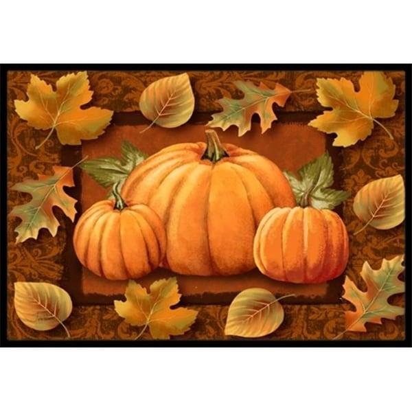 Carolines Treasures PTW2009MAT Pumpkins And Fall Leaves Indoor & Outdoor Mat 18 x 27 in.