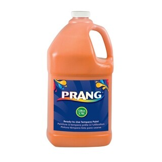 Prang Non-Toxic Ready-to-Use Liquid Tempera Paint, 1 gal Squeeze Bottle, Orange