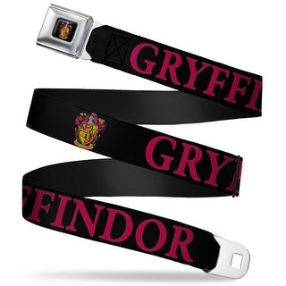 Gryffindor Crest Full Color Harry Potter Gryffindor & Crest Black Red Seatbelt Belt