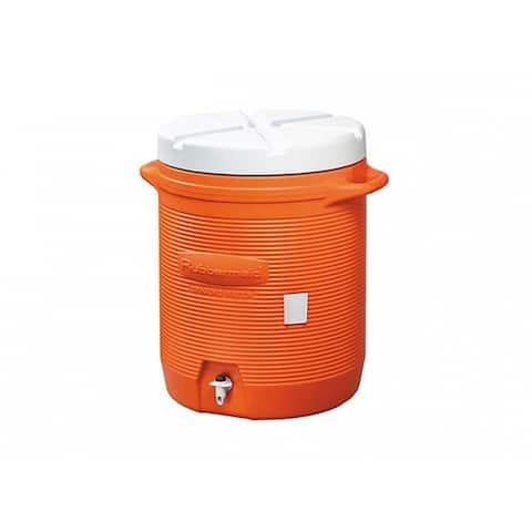 Rubbermaid 1610 Water Cooler with Drip-Resistant Spigot, Orange, 10 Gallon