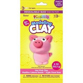 Hot Pink - Foamies(R) Air-Dry Modeling Clay 4Oz
