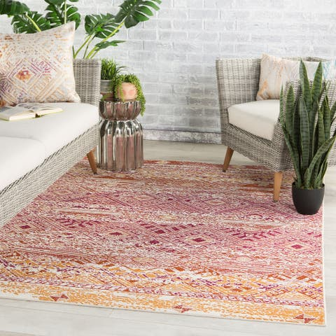 Kamalian Indoor/ Outdoor Tribal Polypropylene Area Rug by Havenside Home