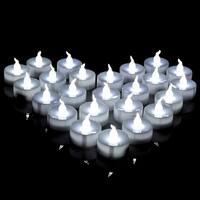 AGPtek 60 PCS Battery Operated No filcker Flameless Candles Steady LED Tealights Cool White