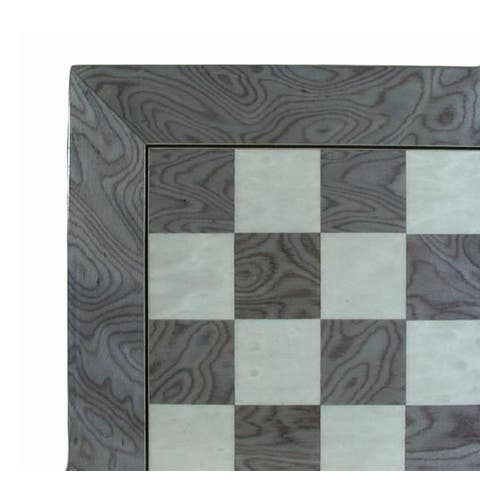 22 Inch Gray & Ivory Glossy Chess Board - 0.5 X 21.5 X 21.5 inches