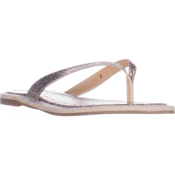 TS35 Beda Flat Flip Flop Sandals, Silver