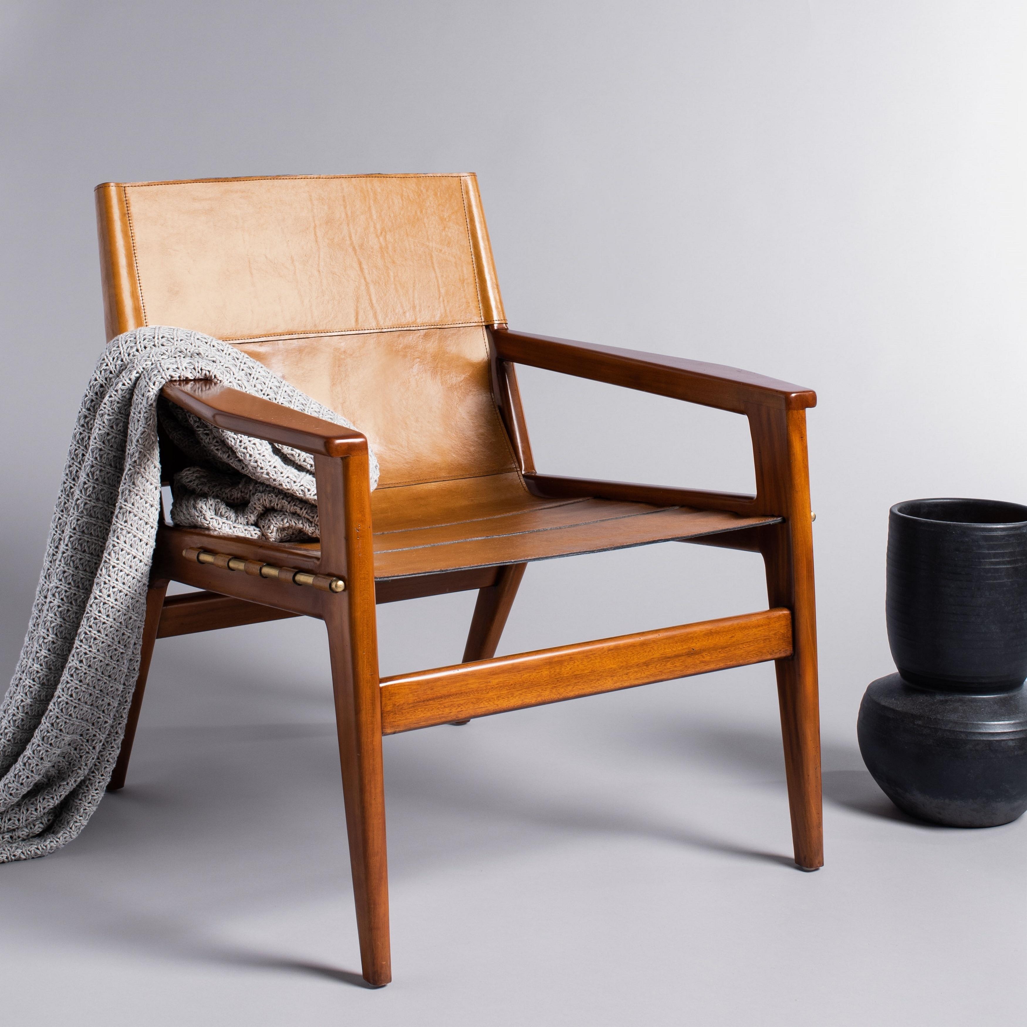 Culkin Leather Sling Chair