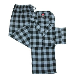 Hanes Men's Cotton Flannel Pajama Set