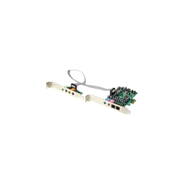 StarTech PEXSOUND7CH StarTech.com 7.1 Channel Sound Card - PCI Express - 24-bit - 192KHz - 7.1 Sound Channels - Internal -