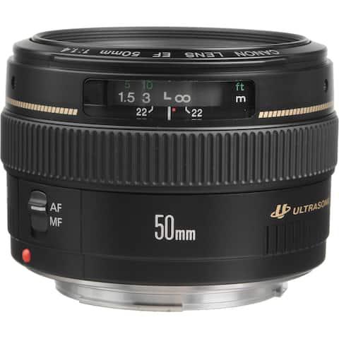 Canon EF 50mm f/1.4 USM Lens (Open Box)