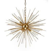 "Bethel International FL21 6 Light 22"" Wide Sputnik Chandelier"