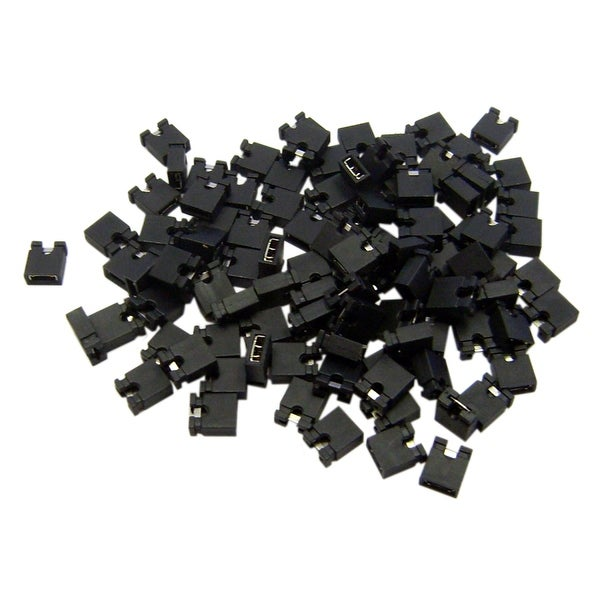 Offex Computer Jumper For Hard Drive, CD/DVD Drive, Motherboard and/or Expansion Card Jumper blocks, 100 Piece, 2.54mm