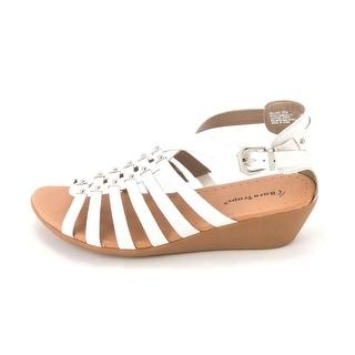Baretraps Mallery Women Peep Toe Leather Wedge Heel