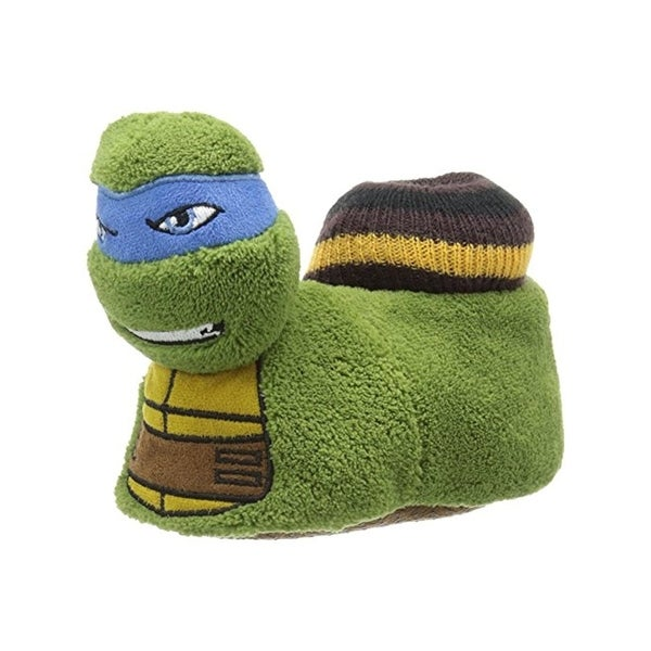 Nickelodeon Boys Ninja Turtle Novelty Slippers Polyester - S