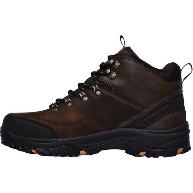 Skechers Men's Relaxed Fit Relment Traven Hiking Boot Brown