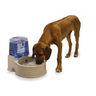 "K&H Pet Products Clean Flow Pet Bowl with Reservoir Large Beige 16.5"" x 13.25"" x 14.5"""