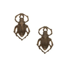 Vintaj Natural Brass Scarab Link Charms 18mm (2)