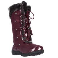 Sporto Minor Mid Calf Soft Linded Waterproof Winter Boots, Tawney Port - 6 us