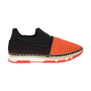 Dolce & Gabbana Dolce & Gabbana Orange Black Mesh Neoprene Sneakers