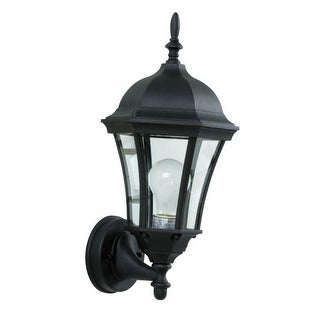 Craftmade Z380 Curved Glass 1 Light Outdoor Wall Sconce - 8 Inches Wide