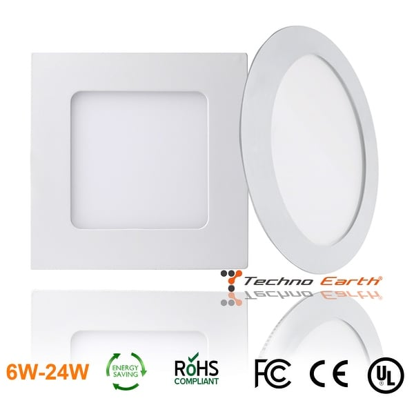 Techno Earth Dimmable Ceiling Panel Led Ultra Thin Glare Light Kits with Led Driver AC 85-265V