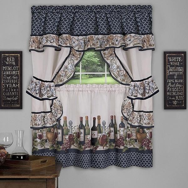 Shop Chateau 3-Piece Kitchen Curtain Valance & Tiers