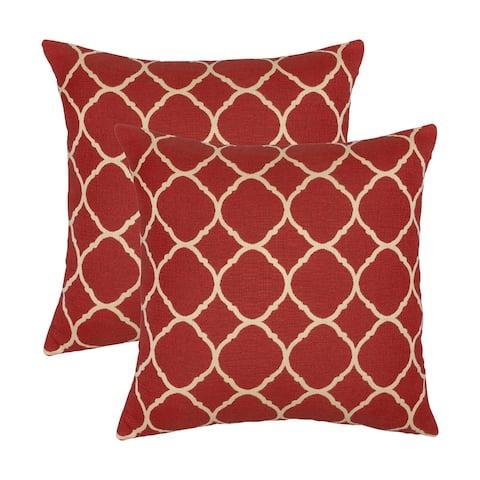 Austin Horn Classics Sunbrella Accord Crimson 18-inch Pillow (Set of 2)