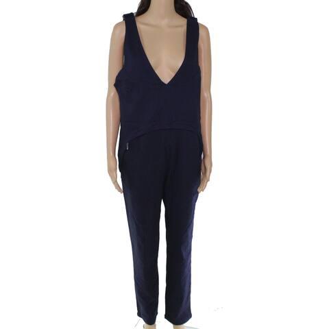 joyn cleon Women's Jumpsuit Midnight Blue Size XXL Textured Maternity