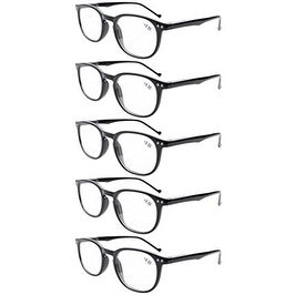 558a00f2529 Shop Eyekepper 5-Pack Spring Hinges 80 s Classic Reading Glasses Black +3.50  - Free Shipping On Orders Over  45 - Overstock.com - 15936305