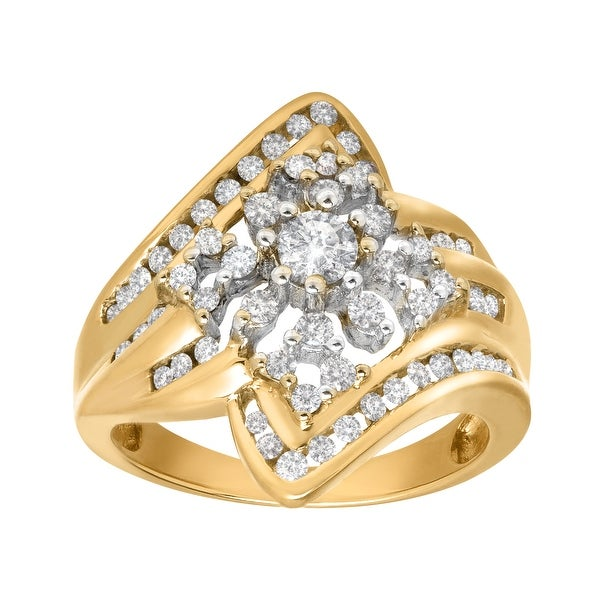 3/4 ct Diamond Burst Ring in 14K Gold