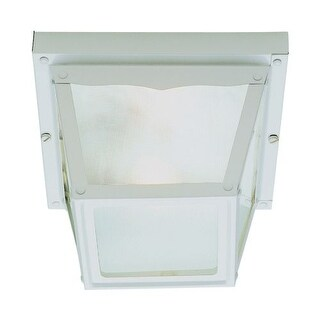 Trans Globe Lighting 4901 Single Light Down Lighting Outdoor Flush Mount Ceiling Fixture from the Outdoor Collection
