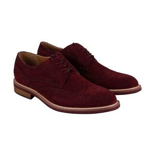 Kenneth Cole Reaction Design 20631 Mens Red Suede Casual Dress Oxfords Shoes