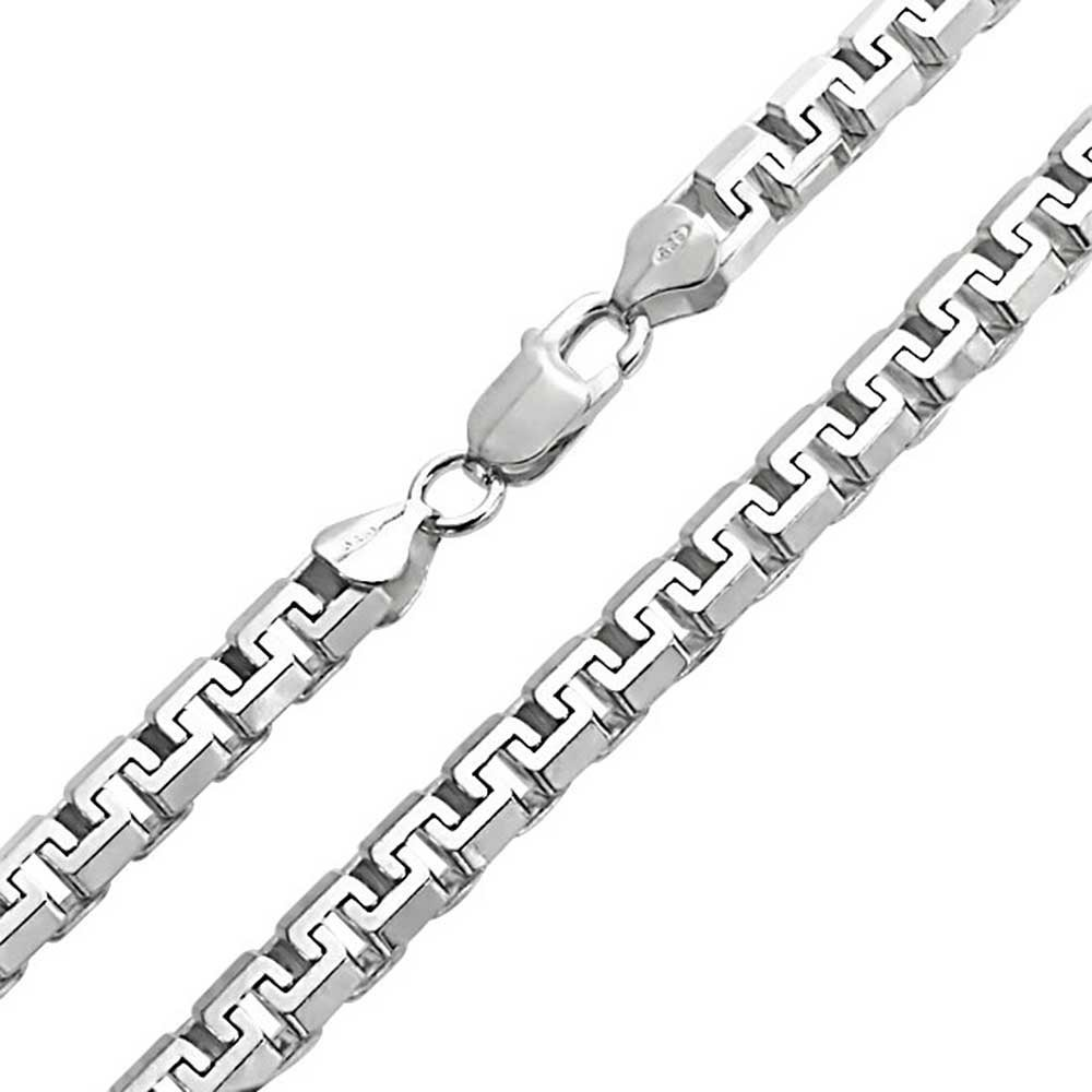 Q Gold Sterling Silver 7mm Anchor Chain