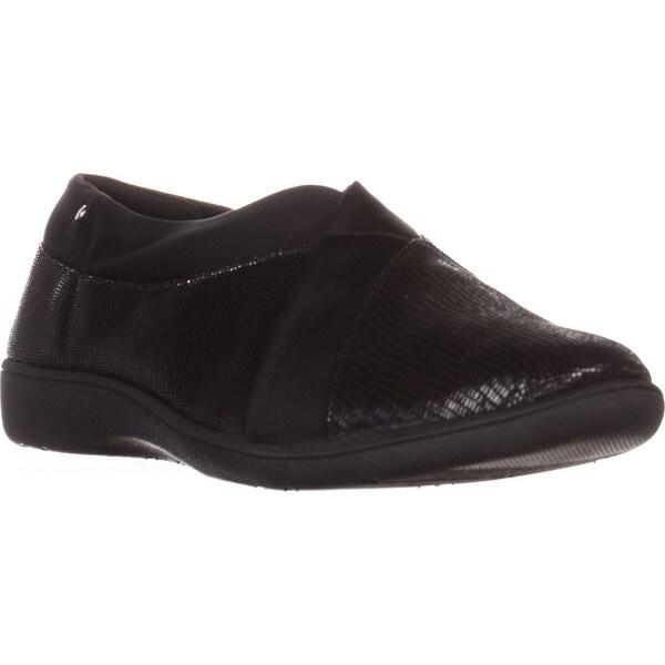 GB35 Parisaa Flat Slip-On Comofort Shoes, Black