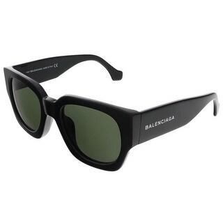 Balenciaga BA9011S 01N Shiny Black Square sunglasses